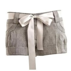 Tailored shorts with a bow. Great for all year round—sandals in the summer, tights and boots in the winter.