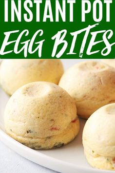 Instant Pot Sous Vide Egg Bites are just like the ones youd find at Starbucks. By making them at home in your electric pressure cooker youll save lots of money and you can totally customize them with your favorite flavors. Best Instant Pot Recipe, Instant Recipes, Instant Pot Dinner Recipes, Crockpot Recipes, Keto Recipes, Cooking Recipes, Best Instapot Recipes, Easy Recipes, Healthy Instapot Recipes
