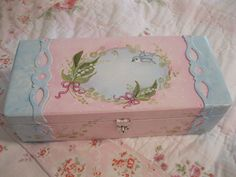 Lily of the Valley and Bluebird Keepsake Box - just listed on ebay -  http://www.ebay.com/itm/390878213581?ssPageName=STRK:MESELX:IT_trksid=p3984.m1555.l2649