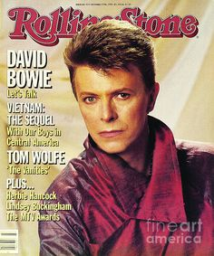 rolling stone magazine cover, david bowie.     lj