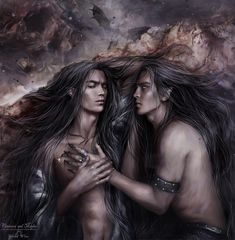 Vanimore and Maglor. So beautiful couple for so talented Spiced Wine 'Who was he? Vanimore and Maglor Elves Fantasy, Fantasy Male, Create Your Character, Character Art, Character Design, Beautiful Couple, Beautiful Men, Gil Galad, O Hobbit