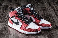 JBF Customs made python skin covered Jordan 1s for HYPEBEAST