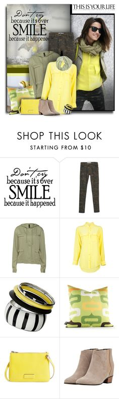 """""""Smile"""" by justjules2332 ❤ liked on Polyvore featuring MANGO, Equipment, Dorothy Perkins, Inhabit, Marc by Marc Jacobs, Augusta and Alva-Norge"""
