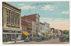 Paris, IL - Main Street Scene - Postcard - Aug 5, 1968.