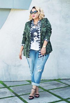 5 ways to wear boyfriend jeans for plus size - Page 5 of 7 - women-outfits.com