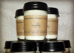 Honeybees Knees Ginger Lime Soy Blend Candle (8oz). $12.50, via Etsy.