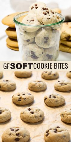 Super soft, thick and adorable, these gluten free chocolate chip cookie bites taste almost like cookie dough. One bite, and they're gone. Better make a big batch!