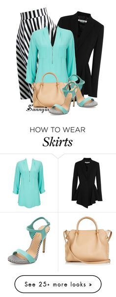 """""""Stripe Skirt 2"""" by sunnyia on Polyvore featuring Givenchy, Wallis, Nina Ricci, women's clothing, women's fashion, women, female, woman, misses and juniors"""