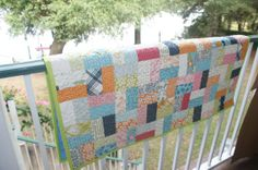 SO pretty! Patchwork Gender Neutral Scrappy Baby Quilt by LuluBelleQuilts, $60.00