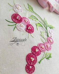 Embroidery On Kurtis Bullion Embroidery Learn Embroidery Hand Work Embroidery Hardanger Embroidery Hand Embroidery Stitches Hand Embroidery Designs Embroidery Techniques Cross Stitch Embroidery Embroidery Neck Designs, Hand Embroidery Videos, Hand Work Embroidery, Embroidery Flowers Pattern, Simple Embroidery, Silk Ribbon Embroidery, Embroidery Techniques, Embroidery Kits, Embroidery Motifs