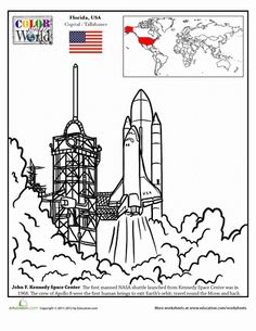 Worksheets: Color the World! Kennedy Space Center