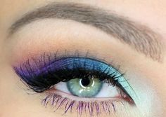 Colorful eyeshadows #makeup love the colors