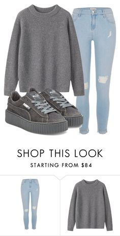 """3-Piece Pt.4"" by clippedkino on Polyvore featuring River Island, Toast and Puma"