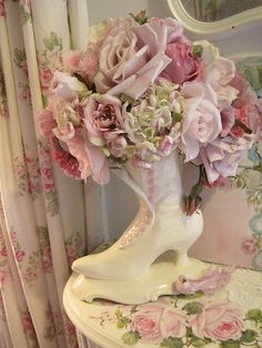 Roses and Victorian Boot flower