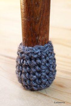 ・椅子の脚カバーの編み方(騒音防止策) | 「ワタシ」を飾るピアス~編みと素材で魅せるシルバーピアス~
