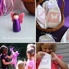 Butterfly Birthday party, handmade parties, party planning for kids  LITTLE DOLLS AND WANDS