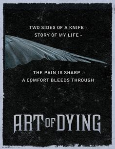 Two sides of a knife- story of my life - the pain is sharp - a comfort bleeds through.
