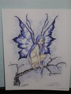 Amy Brown - Blue Faery -SIGNED - NEW | eBay