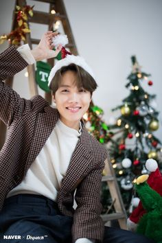 BTS J-Hope Christmas photoshoot by Naver x Dispatch ///// Jung Hoseok, Kim Namjoon, Kim Taehyung, Seokjin, Jimin, Bts Bangtan Boy, Bts Boys, Gwangju, Billboard Music Awards