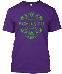 Harris Women Day Purple áo T-Shirt Front