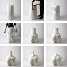 cabbage chair | Nendo for Issey Miyake