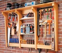 DIY Wall-Mounted Tool Rack Tutorial.