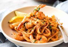 Tagliatelle Pasta Recipes With Prawns.Creamy Tomato And Chilli Pasta Pasta Recipes Tesco . Prawn Pasta In Sun Dried Tomato Cream Sauce Vikalinka. Chilli Prawn Pasta, Spicy Prawns, Spicy Pasta, Prawn Shrimp, Shrimp Pasta, Pasta With Prawns, Garlic Prawns, Prawn Recipes, Seafood Recipes