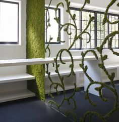 ......moss wall divider....awesome....love it....Gann outdoor garden room maybe a gate to surround tool shed official house design