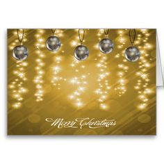 Sparkling Gold and Silver Christmas Greeting Card by Graphic Allusions. #christmas