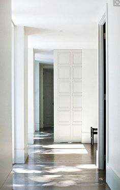 Overscale large paneled pocket door
