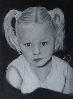 Kinderportret A3 formaat zwart papier softpastel A3, Disney Characters, Fictional Characters, Pastel, Disney Princess, Cake, Fantasy Characters, Disney Princesses, Disney Princes