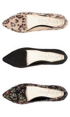 Timeless slip-on flat with a pointed toe and loafer-like detail