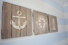 rustic boat wood signage and nautical decor