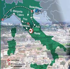 Oferta de viaje a Italia. Entra, informate y reserva el viaje CIRCUITO DE 8 Dias por ITALIA Inicio en ROMA