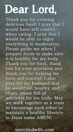 Prayer Of The Day – Eating Healthy --- Dear God, Thank you for creating… Prayer Scriptures, Bible Prayers, Faith Prayer, Prayer Quotes, My Prayer, Food Prayer, Quotes Quotes, Weightloss Prayer, Prayer For The Day