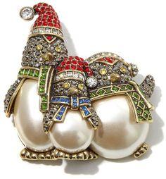 "Heidi Daus ""Snow Day"" Crystal Penguin Pin ($139.95)"