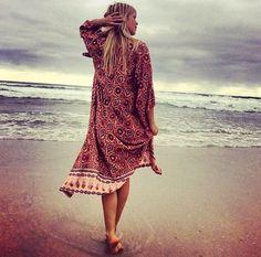 kimono - beach - La Maison Boheme