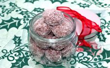 Peppermint cherry christmas balls recipe - Easy recipes