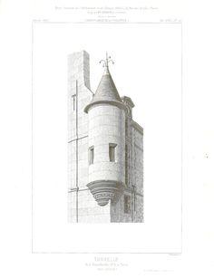 French Castle Print Farchitecture Drawing Chateau De Pau Main