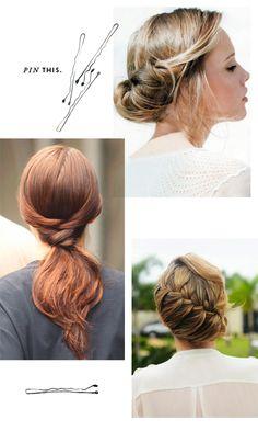 Pretty wedding hair!