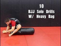 10 BJJ Solo Drills W/ Heavy Bag (Top Pressure And Movement)