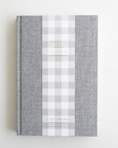 Ginger Parrish x Promptly Journals limited edition childhood history journal in Grey Tweed. years in one beautiful grey tweedy place. Journal Prompts, Journals, Designer Baby Clothes, Mixed Media Journal, Journal Design, Family Love, Pattern Paper, New Moms, Tweed