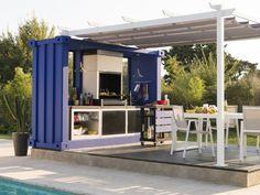 Une cuisine d'été au style inspiré des containers - Cuisine modulaire d'extérieur Kitaway