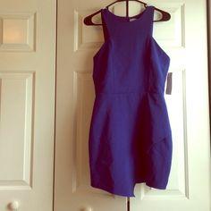 Blue Dress from TOBI Blue Asymmetrical Dress Tobi Dresses Asymmetrical