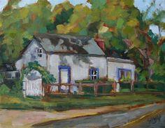 "Daily Paintworks - ""Belmonts Neighbor"" - Original Fine Art for Sale - © Carol Josefiak"