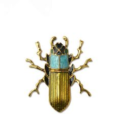 Vintage Beetles Brooch