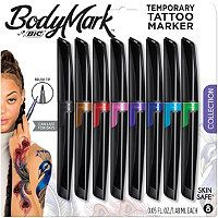 BodyMark by BIC Collection Tattoo Marker BodyMark by Bic Henna Vibes Tattoo Marker, Multi-Colored Best Temporary Tattoos, Fake Tattoos, Thigh Tattoos, Wrist Tattoos, Couple Tattoos, Body Tattoos, Small Tattoos, Fake Tattoo Sleeves, Sleeve Tattoos