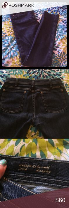 Citizens of Humanity Avedon #133 Skinny Leg Skinny leg dark wash jeans in size 27. Gently used. Low waist with stretch. Length (crotch to ankle ) 31.5. Citizens of Humanity Jeans Skinny