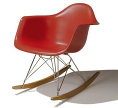The Eames fiberglass shell chair was really the first affordable plastic chair. Conceived in the late this chair design has endured to. Eames Rocker, Eames Rocking Chair, Eames Chairs, Contemporary Living Room Furniture, Mid Century Modern Furniture, Plastic Rocking Chair, Plastic Chairs, Eames Furniture, Retro Furniture