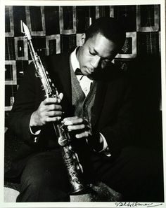 John Coltrane and his soprano saxophone